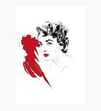 Red Liz Photographic Print
