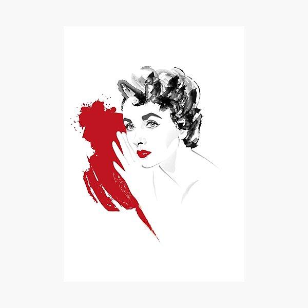 Red Liz Photographic Print
