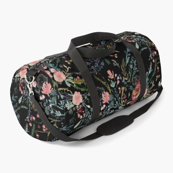 Midnight Floral Duffle Bag
