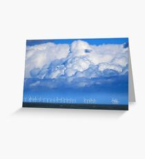 Wind Farm in the Channel Greeting Card