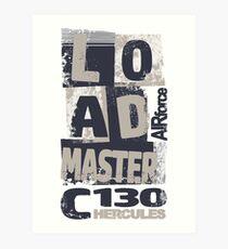 Loadmaster Hercules Art Print