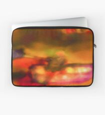 Art Scarf in Yellow, Pink and Purple Laptop Sleeve