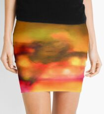 Art Scarf in Yellow, Pink and Purple Mini Skirt