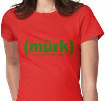 (murk) GREEN Womens Fitted T-Shirt