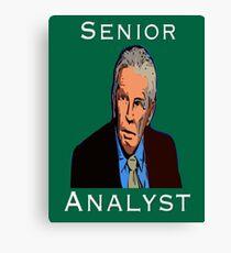 John Giles: Senior Analyst Canvas Print