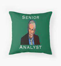 John Giles: Senior Analyst Throw Pillow