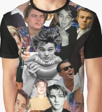 Leonardo Dicaprio Collage Graphic T-Shirt
