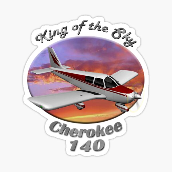 Piper Cherokee 140 King Of The Sky Sticker