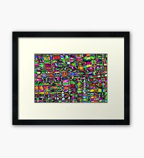 Colour In The Detail - Abstract Multi Coloured Painting Framed Print