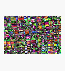 Colour In The Detail - Abstract Multi Coloured Painting Photographic Print