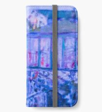 Blue Abstract Whale Art Tote Bag iPhone Wallet/Case/Skin