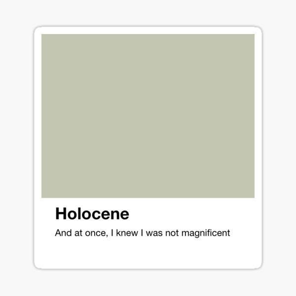 holocene - pantone Sticker