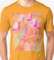Colorful Abstract Art Sailboat Mug in Pastels Unisex T-Shirt