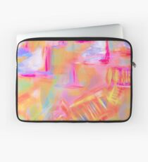 Colorful Abstract Art Sailboat Mug in Pastels Laptop Sleeve