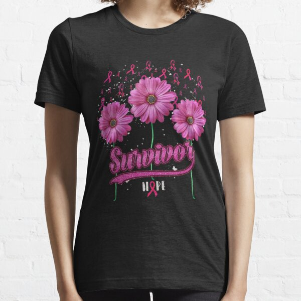 Love Someone With Breast Cancer Pink Ribbon Hope Love Essential T-Shirt