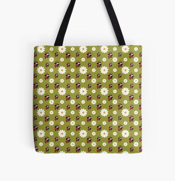 Lady Pug Pattern All Over Print Tote Bag