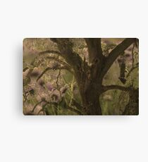Oak and Flowers Canvas Print