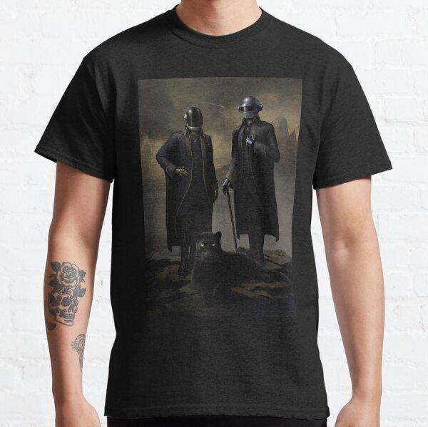 lobo negro daft punk Camiseta clásica