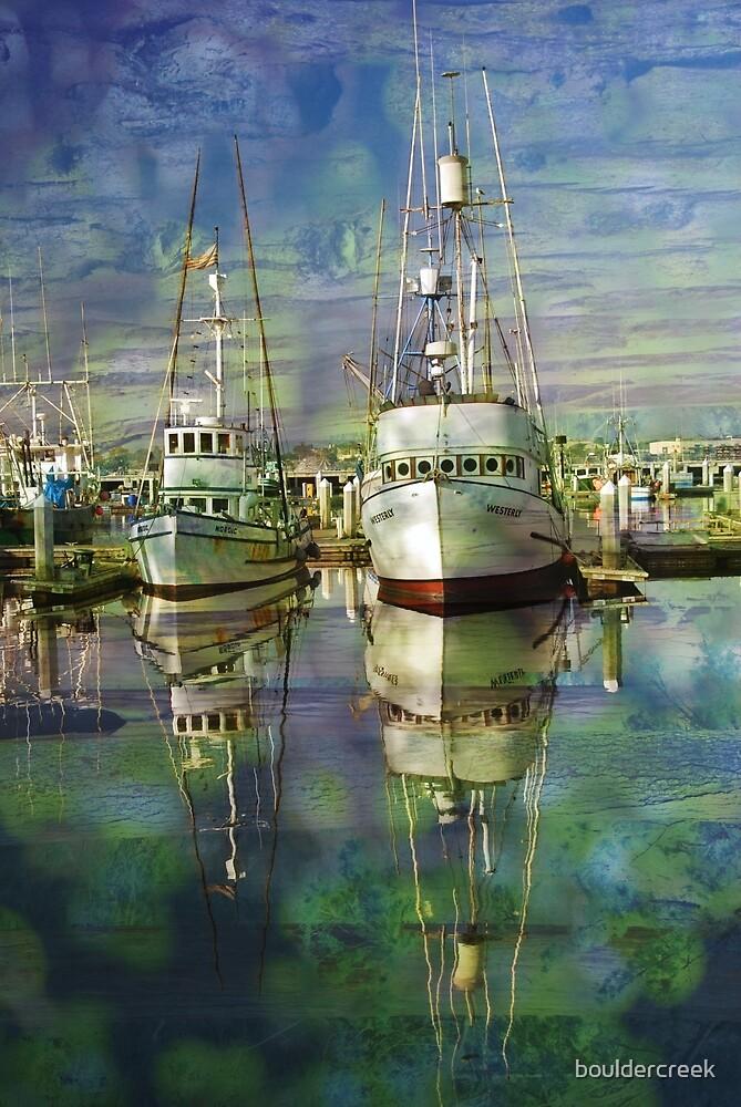 Boats on Water by bouldercreek