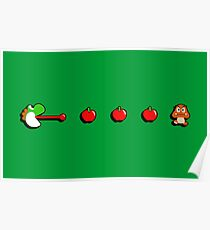 Pac-Yoshi's Healthy Appetite Poster