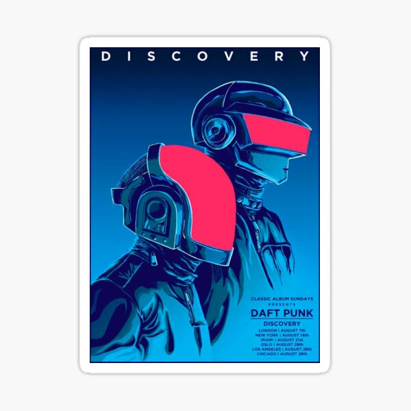 bleu daft punk rouge Sticker