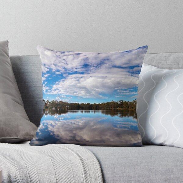 Kennington Reservoir Landscape Photo - Big Sky Throw Pillow