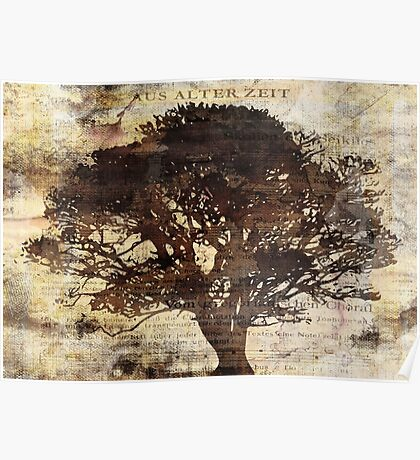 Trees sing of Time - Vintage 2 Poster