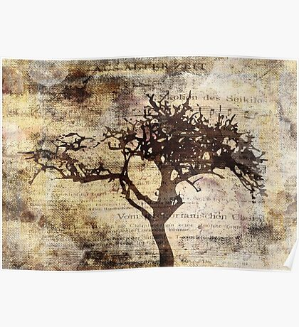 Trees sing of Time - Vintage 3 Poster