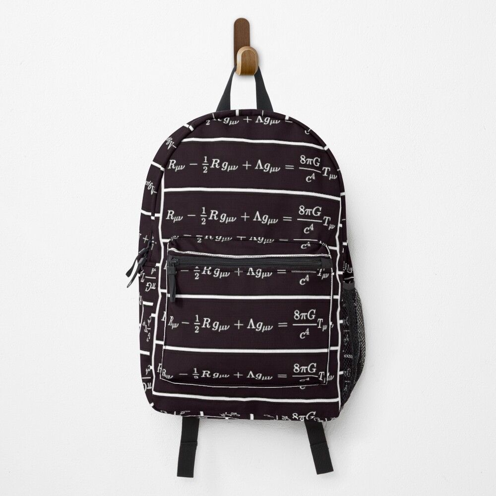 Einstein Field Equations, ur,backpack_front,square,1000x1000