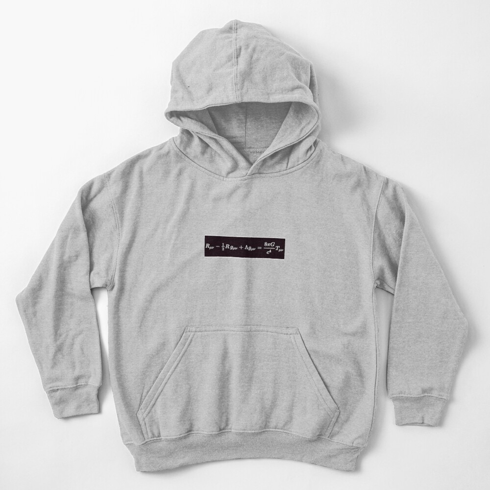 Einstein Field Equations, ssrco,kids_hoodie,youth,heather_grey,flatlay_front,square,1000x1000-bg,f8f8f8