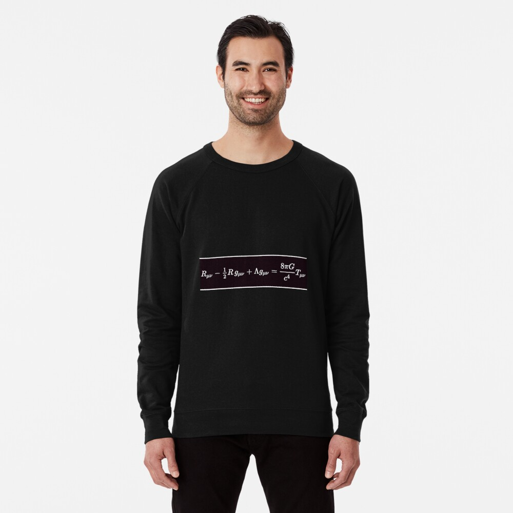 Einstein Field Equations, ssrco,lightweight_sweatshirt,mens,black_lightweight_raglan_sweatshirt,front,square_three_quarter,x1000-bg,f8f8f8