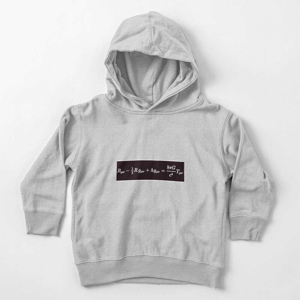 Einstein Field Equations, ssrco,toddler_hoodie,youth,heather_grey,flatlay_front,square,1000x1000-bg,f8f8f8