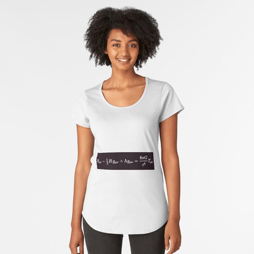 Einstein Field Equations, rco,womens_premium_t_shirt,womens,x1770,fafafa:ca443f4786,front-c,170,40,1000,1000-bg,f8f8f8