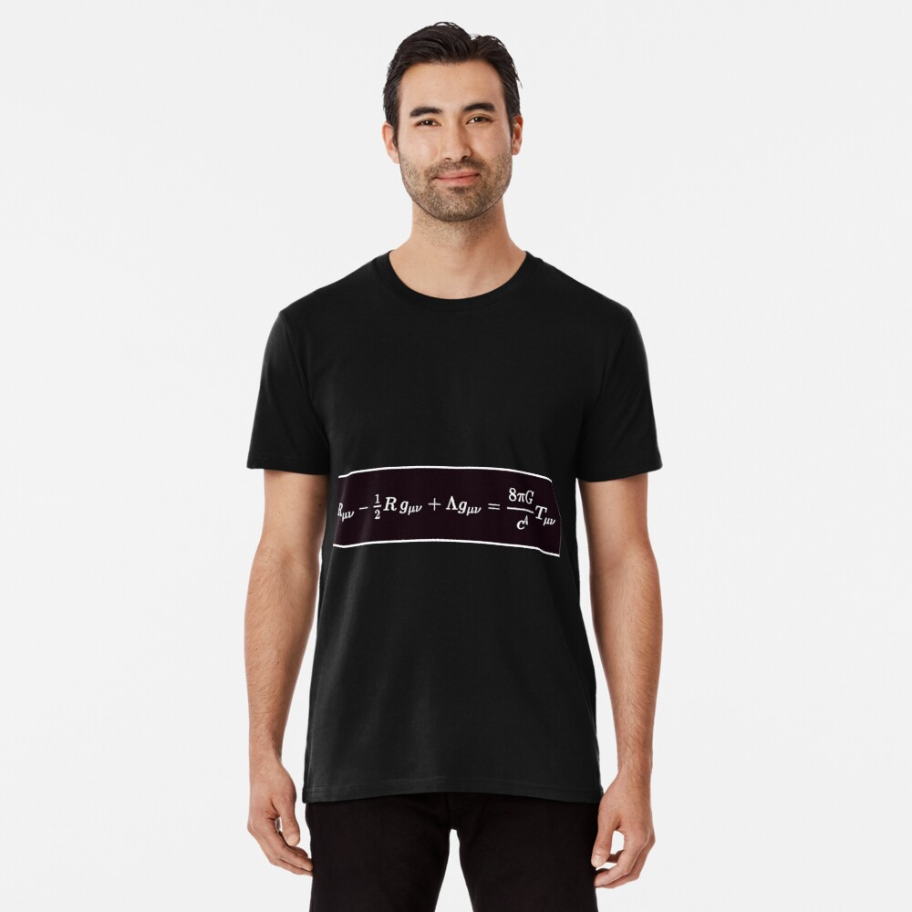 Einstein Field Equations, ssrco,mens_premium_t_shirt,mens,101010:01c5ca27c6,front,square_three_quarter,x1000-bg,f8f8f8
