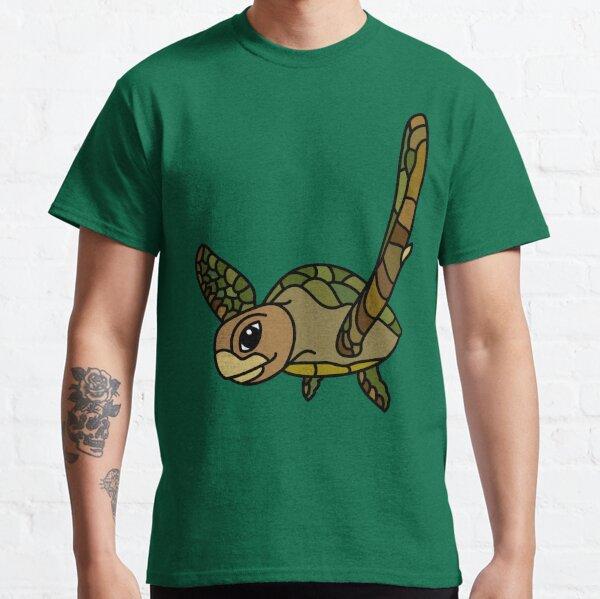Green Turtle Australian Ocean Animal coloured. Classic T-Shirt