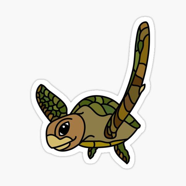 Green Turtle Australian Ocean Animal coloured. Sticker