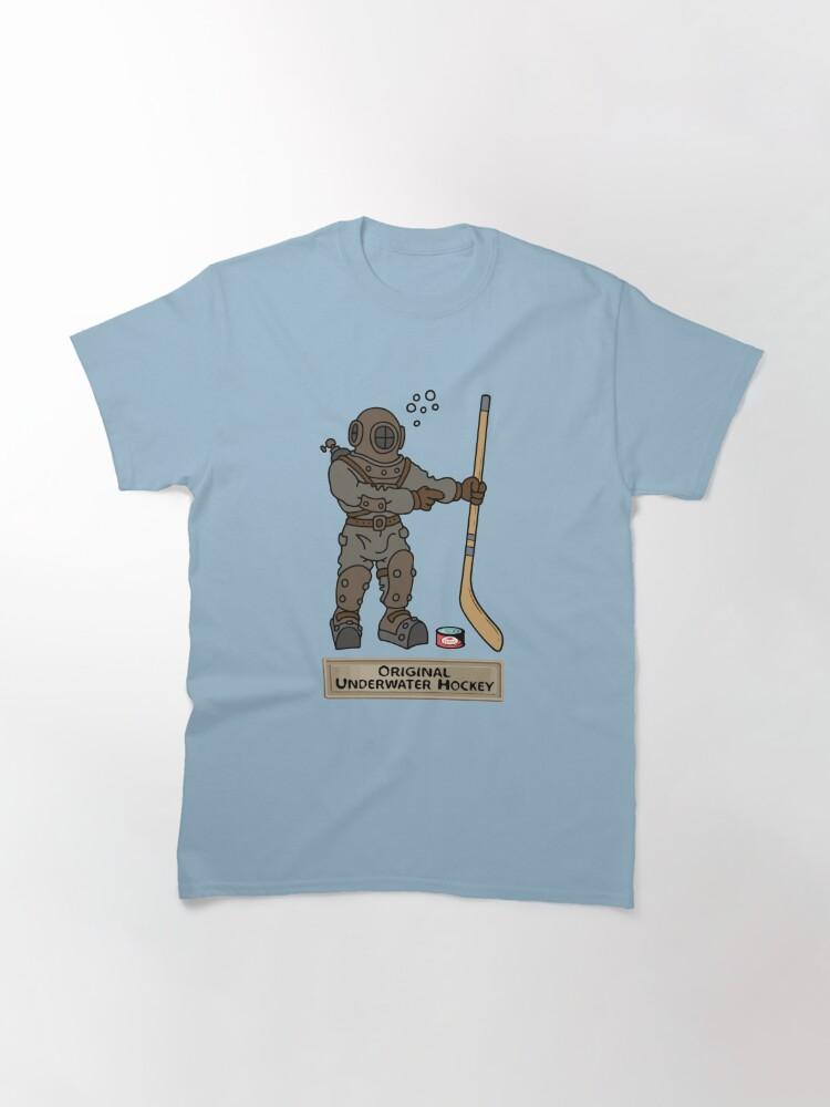 Alternate view of Original Underwater Hockey Diving Bell Classic T-Shirt