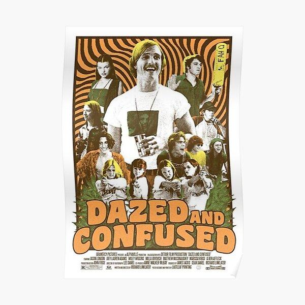 Vintage Retro Dazed Confused Poster