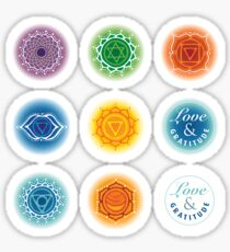 Chakra bottle stickers Sticker
