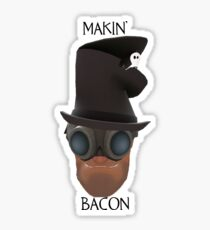 "TF2 Gibus Engineer ""Makin' Bacon"" Sticker"
