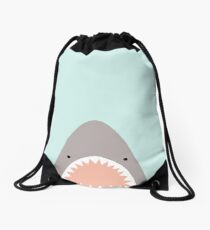 shark attack Drawstring Bag