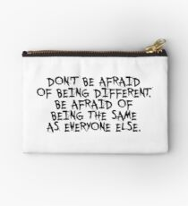 Don't be afraid... Gym Motivational Quote Studio Pouch