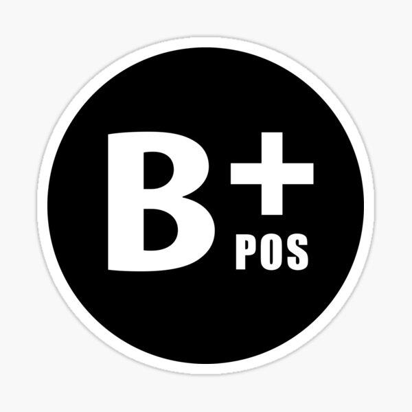 Grupo sanguíneo B + pos Pegatina