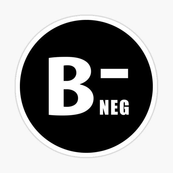 Grupo sanguíneo B- neg Pegatina