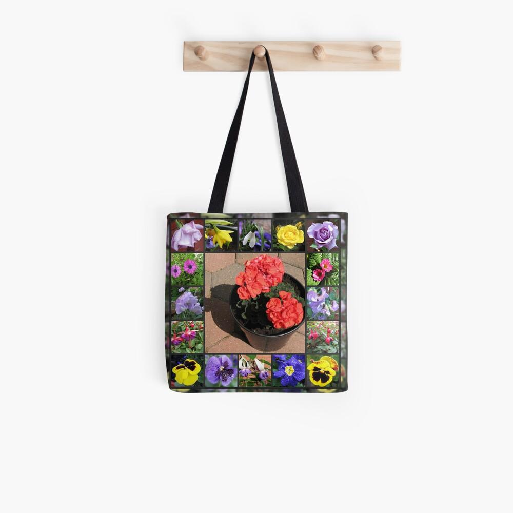 Sonnenschein und Duschen-Blumencollage Tote Bag