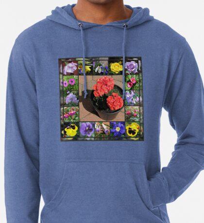 Sonnenschein und Duschen-Blumencollage Leichter Hoodie