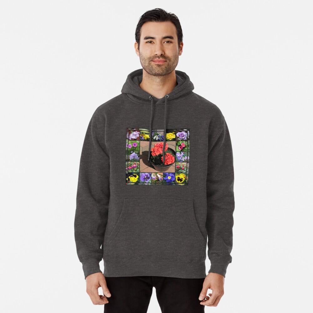 Sonnenschein und Duschen-Blumencollage Hoodie
