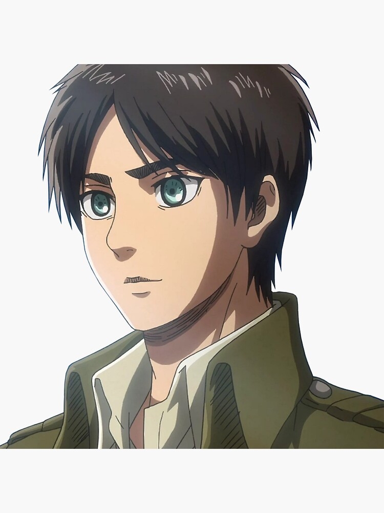 eren yeager attack on titan sticker by kawaiicrossing