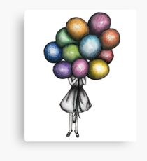 Balloon Girl Canvas Print