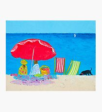 Beach painting - Sunny Afternoon at the Beach Photographic Print